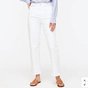 J Crew Slim wide-leg jean white AJ533